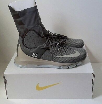 760e769e8fa9 NIKE KD 8 Elite Neutral 834185 001 Tumbled Grey   Lunar Grey   Vivid Orange  13.5
