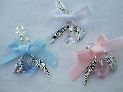 Baby Loss/Miscarriage/Stillborn Memorial Remembrance  Angelwings Babyfeet Charm