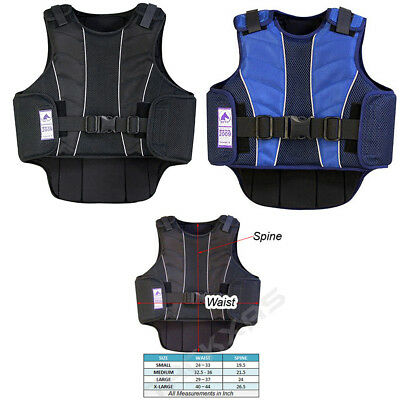 Supra-Flex Body Protective Equestrian Horse Riding Vest BSI CERTIFIED BLACK BLUE
