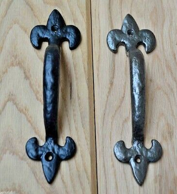 Cast Iron Vintage Old Style Gothic Door Cupboard Wardrobe Pull Handles
