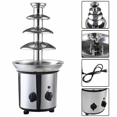 Chocolate Fondue Fountain Commercial Stainless Steel Hot New Luxury 4 Tiers