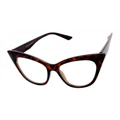 c44d2ff2a6f CLASSIC VINTAGE 50 s RETRO CAT EYE Style Clear Lens EYE GLASSES Tortoise  Frame