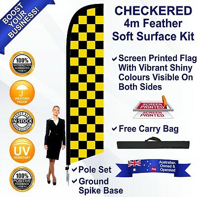 CAFE Deluxe Double Sided 4m Feather Flag Only Outdoor High Quality Banner