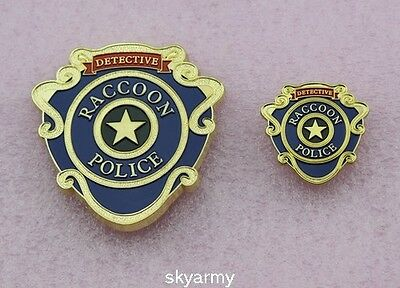 Raccoon City Police Detective Badge and Pin