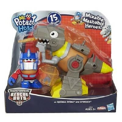 New Hasbro Playskool Mph Mixable Mashable Heroes Optimus Prime/grimlock A7816