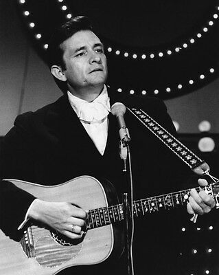 1960's American Singer JOHNNY CASH Glossy 8x10 Photo Country Music Print Poster