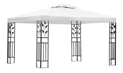 Outdoor 4x3M Canopy Gazebo Wedding Tent White Party Marquee Awning Event Pop Up