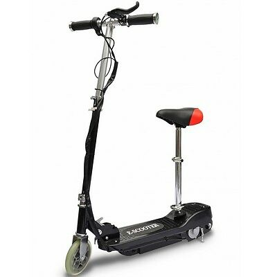 Black Electric Seay Scooter Kids Children Portable Adjustable Mobility Toy Motor