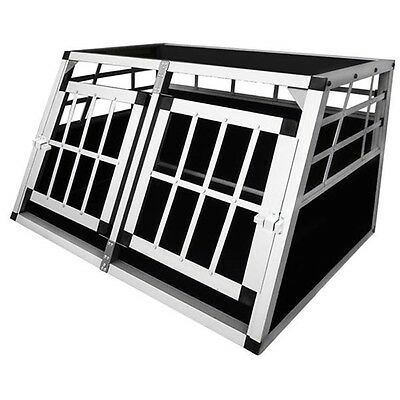 Dog Carrier Transport Cage Travel Pet Crate Kennel Collapsible Aluminium 1 Door
