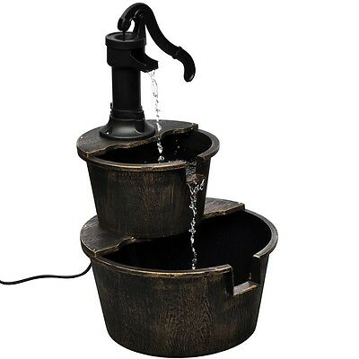 New Garden Water Fountain Well Feature Outdoor Indoor Decoration Pump Bird Bath
