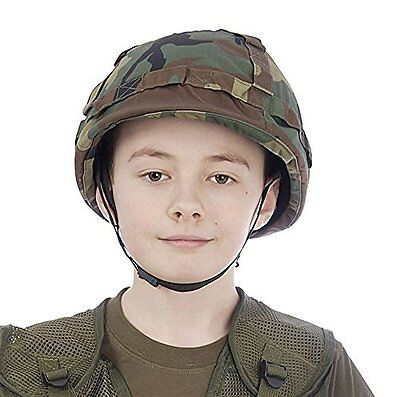Kids Army Camouflage Helmet - Fits Ages 5-13