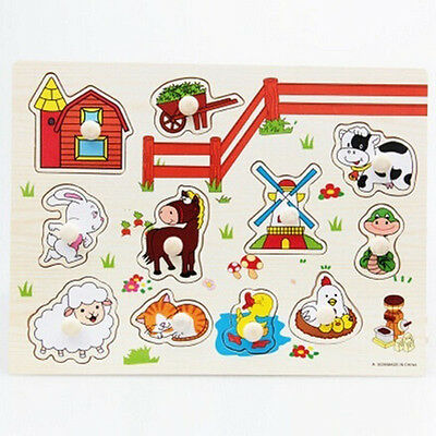 New Building Blocks Wooden Jigsaw Puzzle Educational Game Toys For Kids Baby