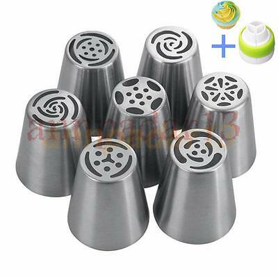 7Pcs Sugarcraft Pastry Tool Russian Icing Piping Nozzles Cake Decorating Tips