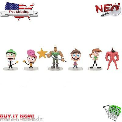 Nicktoons Fairly Odd Parents Deluxe Collector Toys 6 Pack 2''