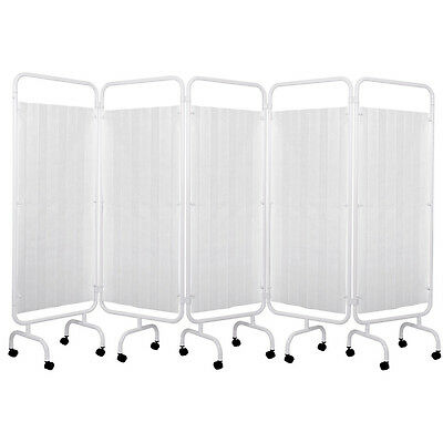 Viva Medi 5 Panel Medical Privacy Screen with Disposable Curtain