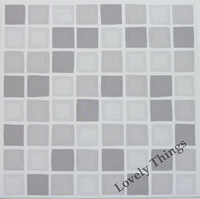 Self Adhesive Mosaic Tile Stickers Transfers SILVER GREY Bathroom Kitchen DIY