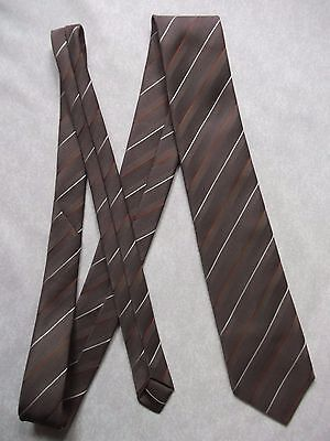 TOOTAL TIE VINTAGE RETRO 1980s 1990s BROWN STRIPED STRIPES CASUAL MODERNIST