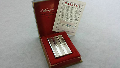 S.T.Dupont  lighter 1963 box/card, fully serviced with warranty.