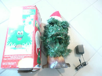 USED 1997 Animated Dancing Douglas Fir 14 Inch Tall Christmas Tree from Gemmy