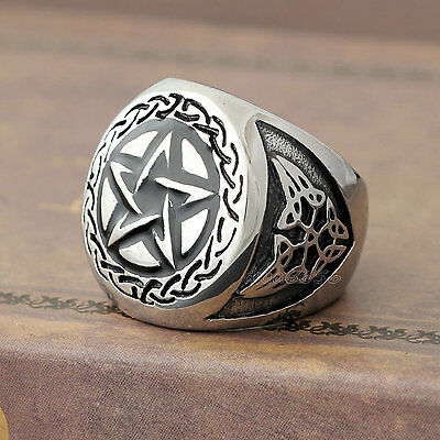 Lux Accessories Silver Tone Vintage Pentagram Jointed Knuckle Single Finger Claw