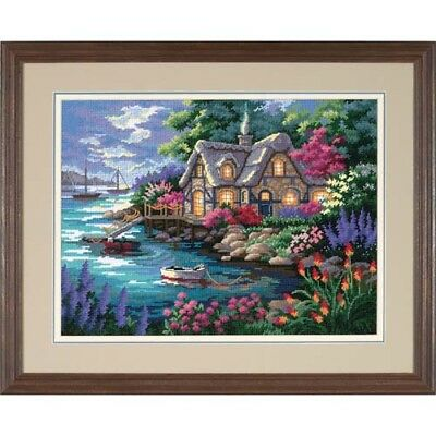 Dimensions D12155 | 14 Mesh Printed Canvas Cottage Cove Tapestry Kit | 41 x 30cm