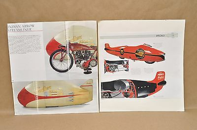 Vintage Indian Arrow Streamliner Munro Special Scout Museum Display Signs