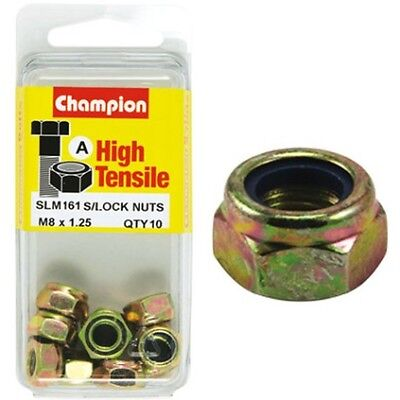 Champion Nyloc Nuts - M8x1.25, High Tensile