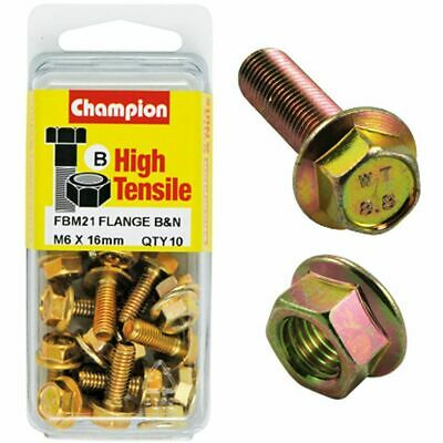 Champion Flange Bolts - M6x16, High Tensile