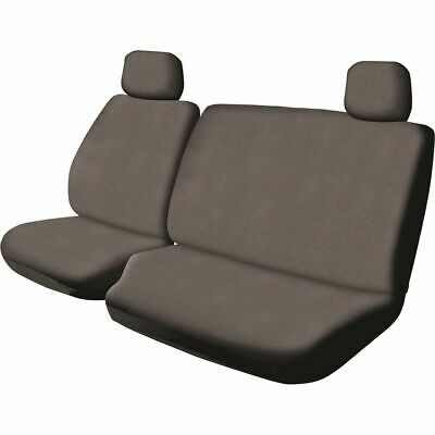 SCA Canvas Ute Seat Cover - Charcoal, Size 401, Front Bucket and Bench (with ...