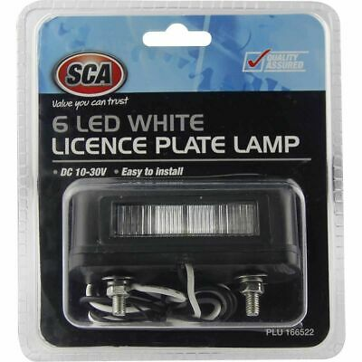SCA Licence Plate Lamp - LED, White, 10-30 Volt