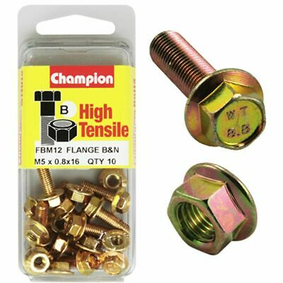 Champion Flange Bolts - M5x20, High Tensile