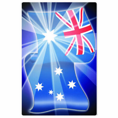 Hot Stuff Sticker - Aussie Flag, Vinyl