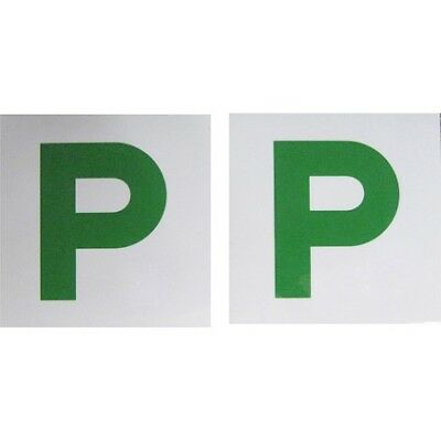 P Plate - Magnetic, Green NSW & QLD, 2 Pack