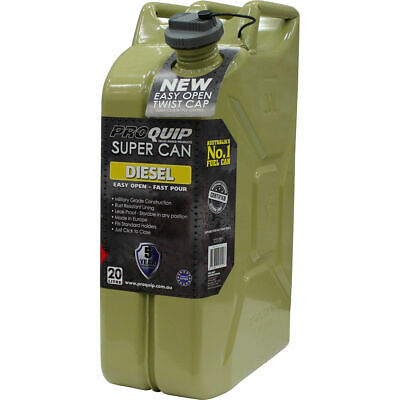 Pro Quip Supercan Metal Jerry Can - Diesel, 20 Litre