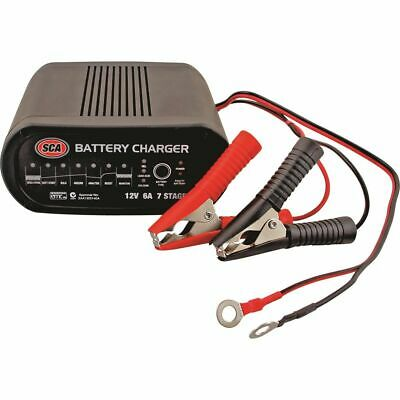 SCA Battery Charger - 7 Stage, 12 Volt, 6 Amp