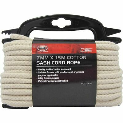 Rope Cotton Sash Cord 7Mmx15M Sca