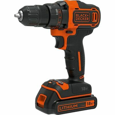 Black & Decker Cordless Drill 2 Speed Kit 18 Volt Lithium