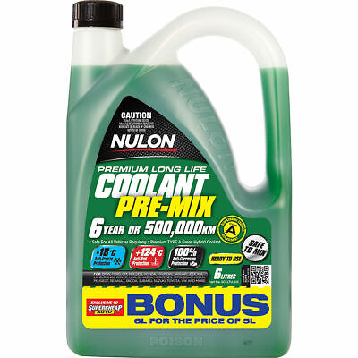 Nulon Anti-Freeze/Anti-Boil  Green Premix Coolant