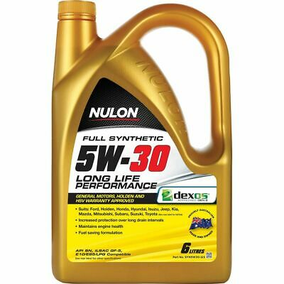Nulon Full Synthetic Long Life Engine Oil - 5W-30, 6 Litre