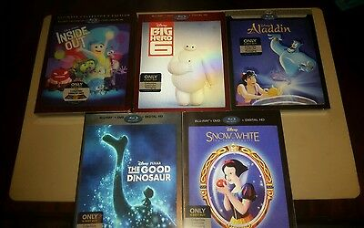 Inside Out, Big Hero 6, Aladdin, Good Dinosaur, Snow White, Zootopia [@ Bestbuy]