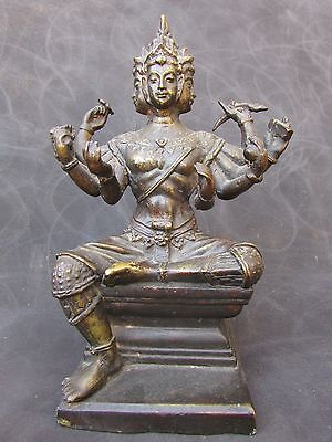 Thai Eight Arm Pra Prom/ Brahma Brass statue early to mid 20 th century