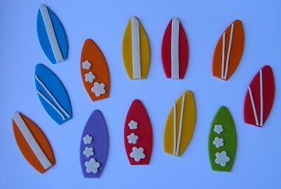 12 edible SURF BOARDS CUPCAKE TOPPER decoration surfboard WEDDING beach party