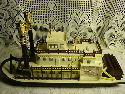 Mississippi River Steamboat Proud Mary Talking Vintage Alarm Clock Teltime Toy