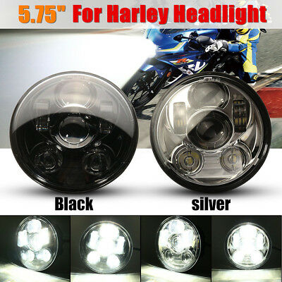 5.75'' Motorcycle Projector LED Headlight Lamp Hi-Low Beam For Harley Davidson