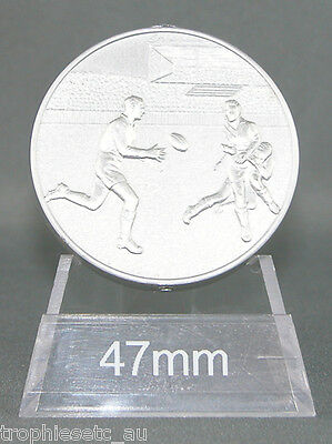 NEW Rugby League Rugby Union Silver Medal + Presentation Case 50% OFF RRP