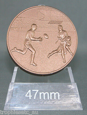 NEW Rugby League Rugby Union Bronze Medal + Presentation Case 50% OFF RRP
