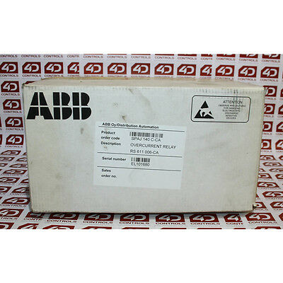 ABB SPAJ 140 C-CA 50HZ COMBINED OVERCURRENT AND EARTH -FAULT RELAY - New Surp...