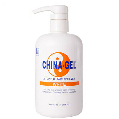 China Gel - Topical Muscle Pain Reliever Herbal Therapeutic Gel 16oz Pump Bottle