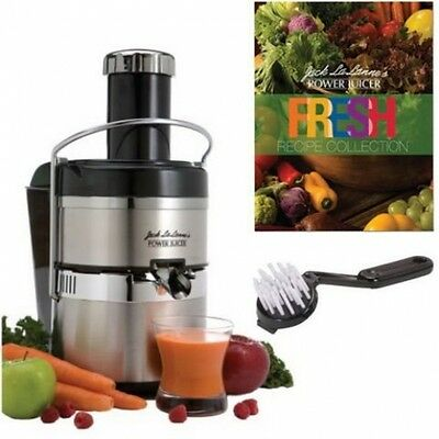NEW Jack Lalanne's JLSS Power Juicer Deluxe Stainless-Steel Electric Juicer