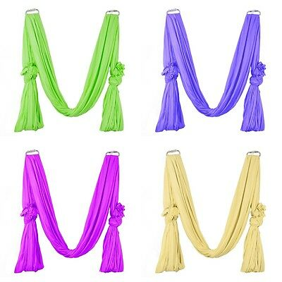 Deluxe Flying Yoga Inversion Swing Hammock For Aerial Yoga Training Exercise
